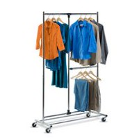 Honey-Can-Do 80-inch Dual Bar Adjustable Garment Rack