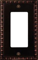 Atron Electro Industries Beading Oil Rubbed Bronze Rocker Wall Plate
