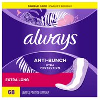 Always Maximum Protection Unscented Pantiliners, Double Pack