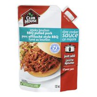 Club House Smoky Bourbon BBQ Pulled Pork Slow Cooker Sauce