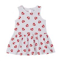 George baby Girls' Tank Sundress White & Red 18-24 months