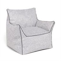 hometrends Valley Lounge Chair Grey