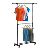 Honey-Can-Do Dual Rod Expandable Garment Rack