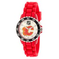 NHL Calgary Flames Silicone Strap Analog Watch