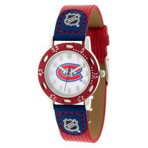 Youth NHL Montreal Canadiens Red Ribbed Strap Analog Watch