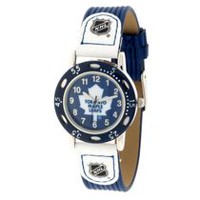 Youth NHL Toronto Maple Leafs Blue Ribbed Strap Analog Watch