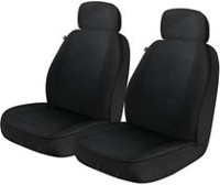 Who-Rae Hudson Seat Cover - Pair, Black