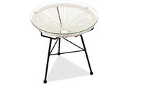 Acapulco Side Table in White Color