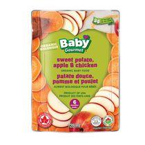 Baby Gourmet Patate douce, pomme et poulet aliments biologiques pour bebes