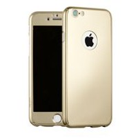Gel Grip Reborn Gold Case for iPhone 6/6S (Tempered Glass Screen Protector Included)