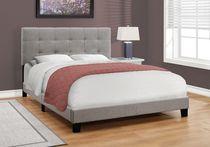 Monarch Specialties Grey Bed Frame