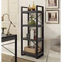 Slim Multimedia Storage Tower Oak Amp Black Walmart Ca