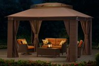 Sunjoy Wicker Screen Gazebo