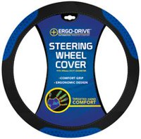 Who-Rae Ergodrive Hexneo Steering Wheel Cover, Black / Blue