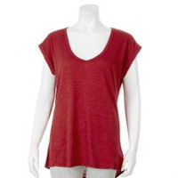 Danskin Now Women's V-Neck Tee Red S/P