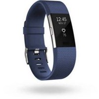 Fitbit Charge 2 Black Silver Small Activity Tracker Blue Small