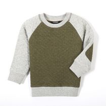 George Toddler Boys' Long Sleeved Quilted Raglan Top Green 3T