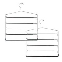 Honey-Can-Do 5-Tier Swinging Arm 2-Pack Pant Rack