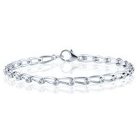 0.14 Ct T.W. Dream Link Bracelet in Sterling Silver