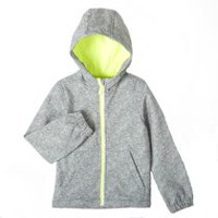 Athletic Works Boys' Bonded Fleece Jacket Gray 5