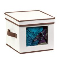 Honey-Can-Do Canvas Small Window Storage Box