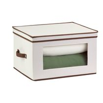 Honey-Can-Do Canvas Tall Window Storage Chest