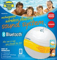 Banana Boat Rechargeable Wireless Floating Sound System