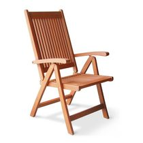 Malibu Outdoor Patio Wood 5-Position Reclining Chair
