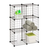 Cubes de rangement en maille modulaire de Honey-Can-Do, 6 par paquet