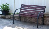 Henryka Black Steel Frame Park Bench