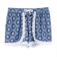 George Girls' Soft Shorts Blue XS