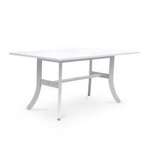 Vifah Rectangular Wood Dining Table with Curvy Legs