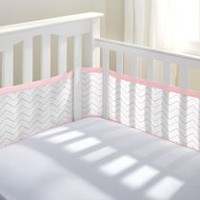 Breathable Baby Breathable Crib Liner Pink