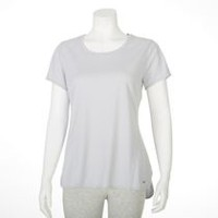 T-shirt performance Athletic Works pour femmes Gray M