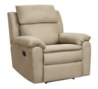 Lifestyle Solutions Overstuffed Solid Wood Downing Recliner