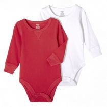 George Baby Boys' Body Suit, 2-Pack Red 0-3 months