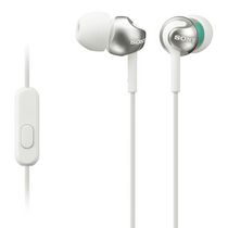 SONY Step-up EX Series Earbud Headphones with Microphone, White - MDREX110APW