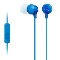 Sony Fashion Color EX Earbud Headphones with Microphone Blue