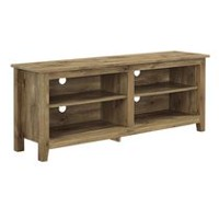 Walker Edison Barnwood Wood Media TV Stand Storage Console