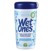Wet Ones Vitamin E and Aloe Hand and Face Wipes