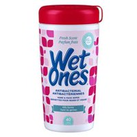 Wet Ones Antibacterial Fresh Scent Hand and Face Wipes