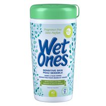 Wet Ones Sensitive Skin Fragrance Free Hand and Face Wipes