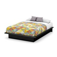South Shore SoHo 54-inch Full Platform Bed Black