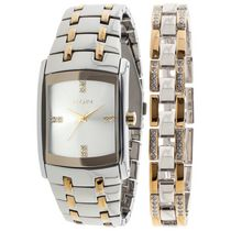 Elgin Men's Two-Tone Watch and Braclet Set