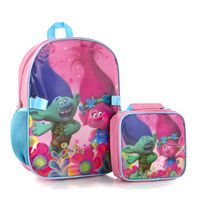 Heys Trolls Girls' Econo Backpack with Lunch Bag Kit