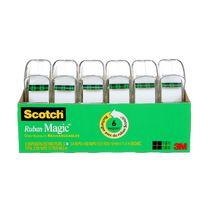 Ruban 3105X-02-C-RP12 Magic(MC) Scotch®, avec dévidoir, 19mm x 10,10m (0,75po x 19v), 6rouleaux/paquet
