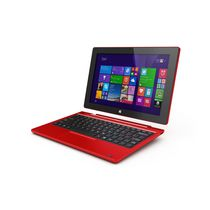 "Hipstreet 10"" W10 Windows 8.1 Intel Quad Core 64GB Tablet with Docking POGO Keyboard - Red"