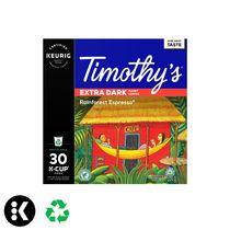 Keurig® Timothy's® Espresso Forêt Tropicale® Café de Torréfaction très foncée capsules K-Cup® recyclables