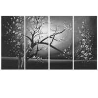 Design Art Black and White Floral Canvas Wall Art