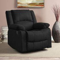 Fauteuil inclinable Ovida de Lifestyle Solutions rembourré super doux Noir